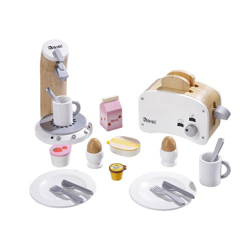 I will make breakfast myself. Wooden breakfast fun accessories set