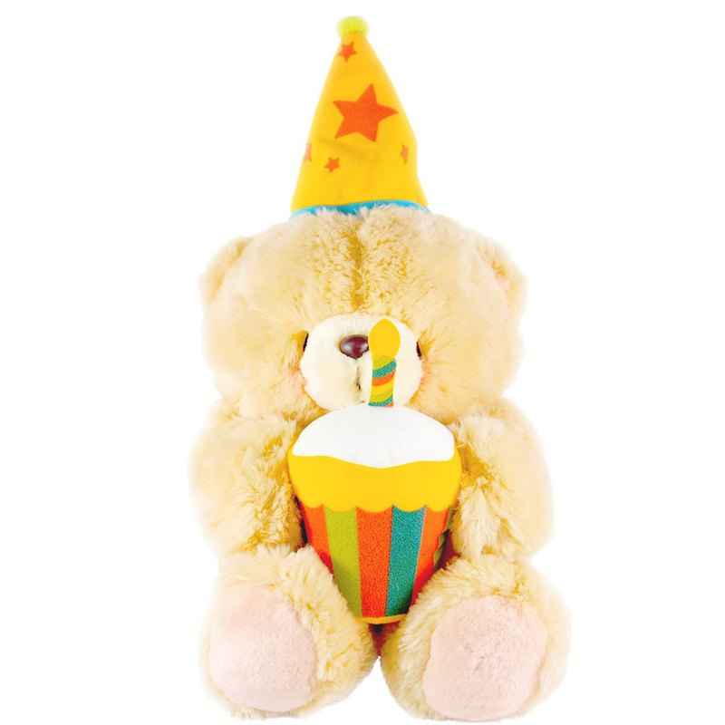 12-inch / happy birthday plush bear [Hallmark-ForeverFriends Fluff - Birthday Series]