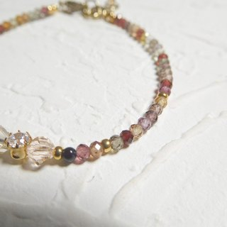 Garnet Zircon Multicolor colorful bracelet
