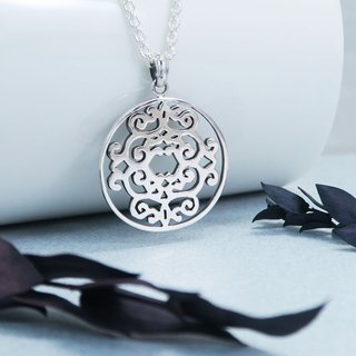 Window Changlu window (large) 925 sterling silver necklace -ART64