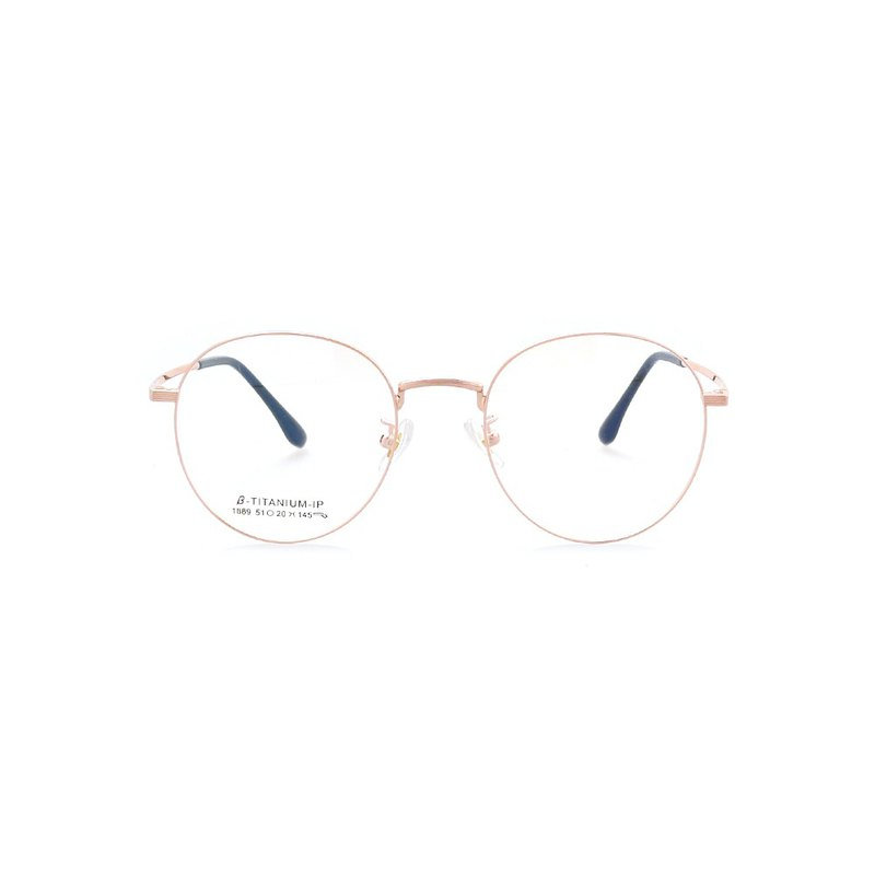 2020-Design for High-end Korean Customers│Wenqing Titanium Metal Glasses-Rose Gold [New Early adopters]