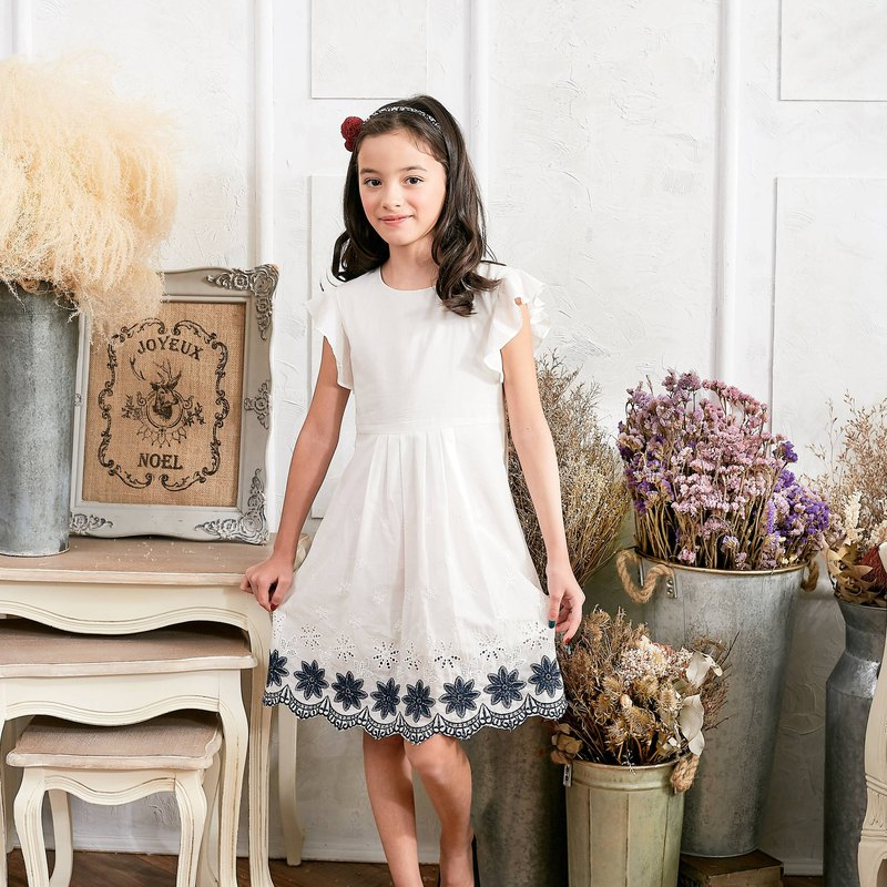 Floral Embroidered Fit & Flare Dress (toddler/girl)