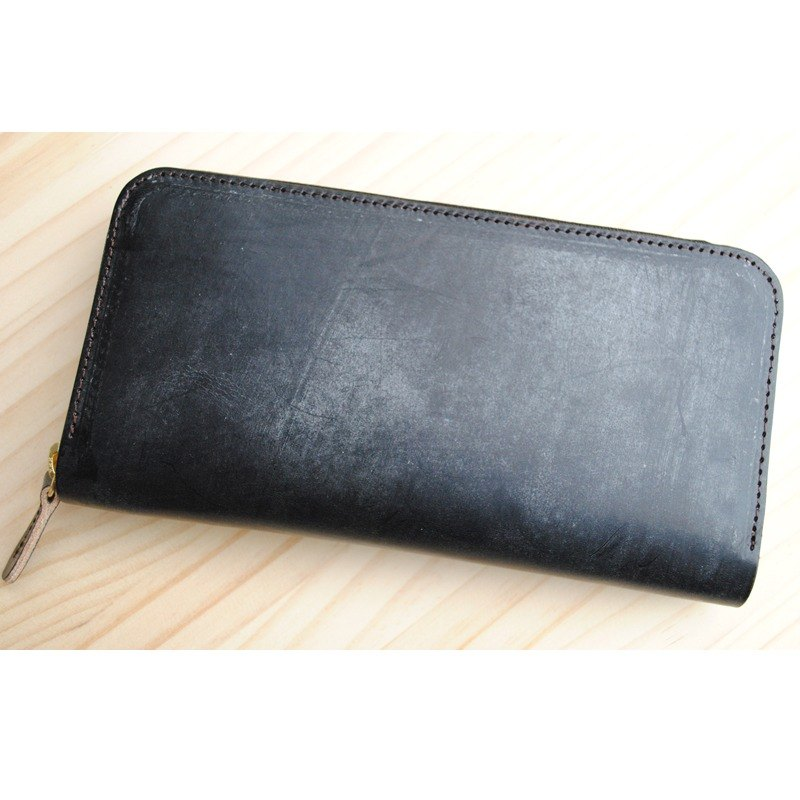 Japan manufacturing cowhide 錢包 Black Thomas Ware made in JAPAN handmade leather wallet