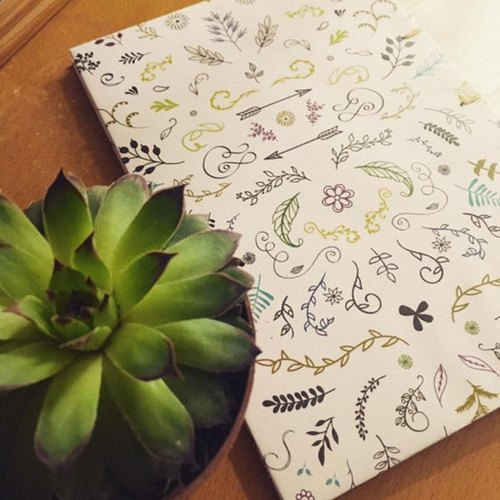Pattern Pattern Craft Book (Hand Sewing Small Handbook Set) - Plant Dream