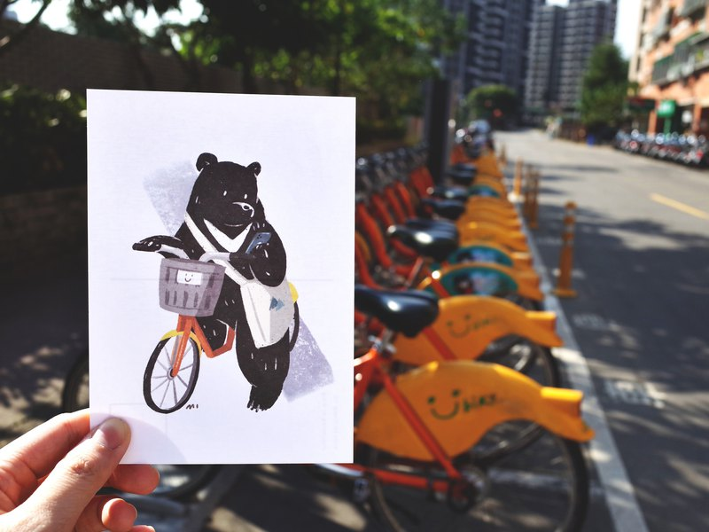 【Who live in Taiwan】Black Bear Postcard