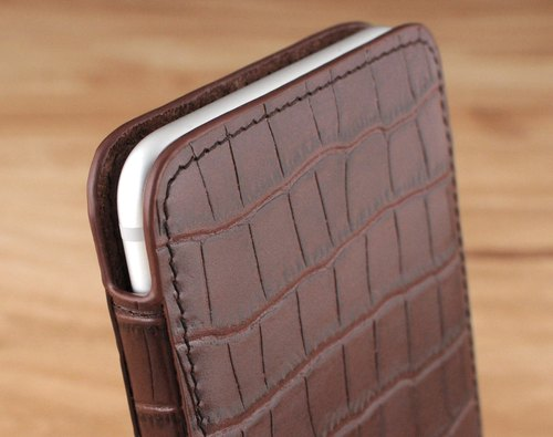 STORYLEATHER made (APPLE iPhone series) Style E1 glasses case upstairs leather case