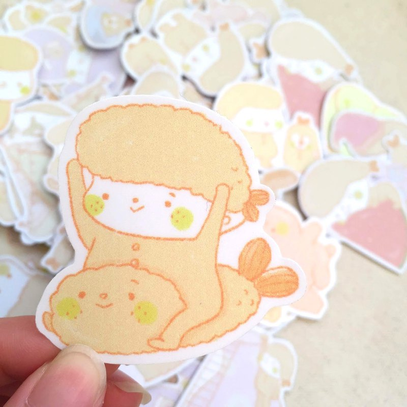Fried shrimp fried shrimp / waterproof sticker