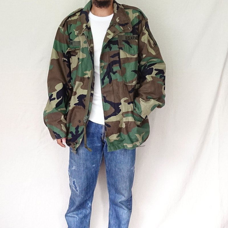 BajuTua / Vintage / American M65 camouflage green field jacket