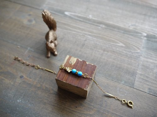 [Sh, N x PAW] Valentine joint planning activities | mini-dried bouquet card x natural stone brass hand and chain No.1