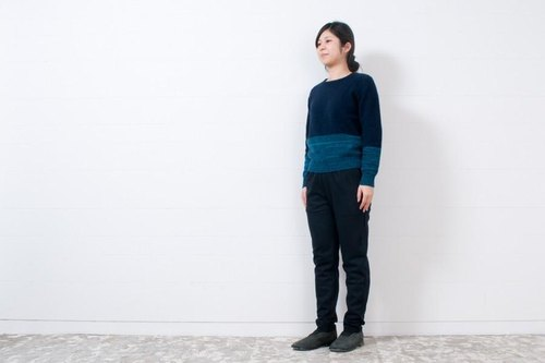 ens-P0004 wool pants  B.navy(ネイビー)