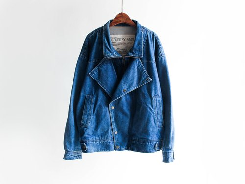 River Hill - Dreams Antiques thick dark blue British pound detective tannins denim jacket vintage denim vintage oversize
