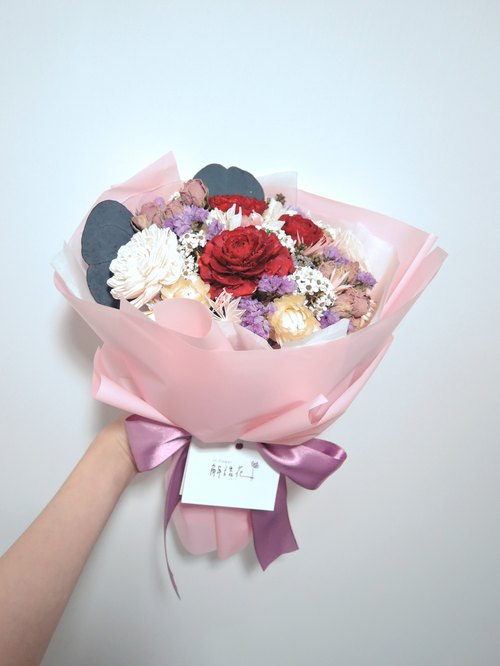 JY.flower Jie Yuhua [LFL] dried bouquet of red roses