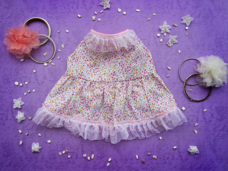 L_Princess_Pink dress_ Dog Clothes
