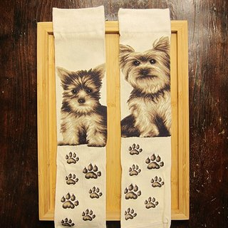 JHJ Design Canadian brand of high saturation knitting socks dog series Yorkshire (female) puppy dog ​​cute