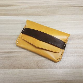 Customized! MICO hand-stitched leather leisure wallet (opening type)