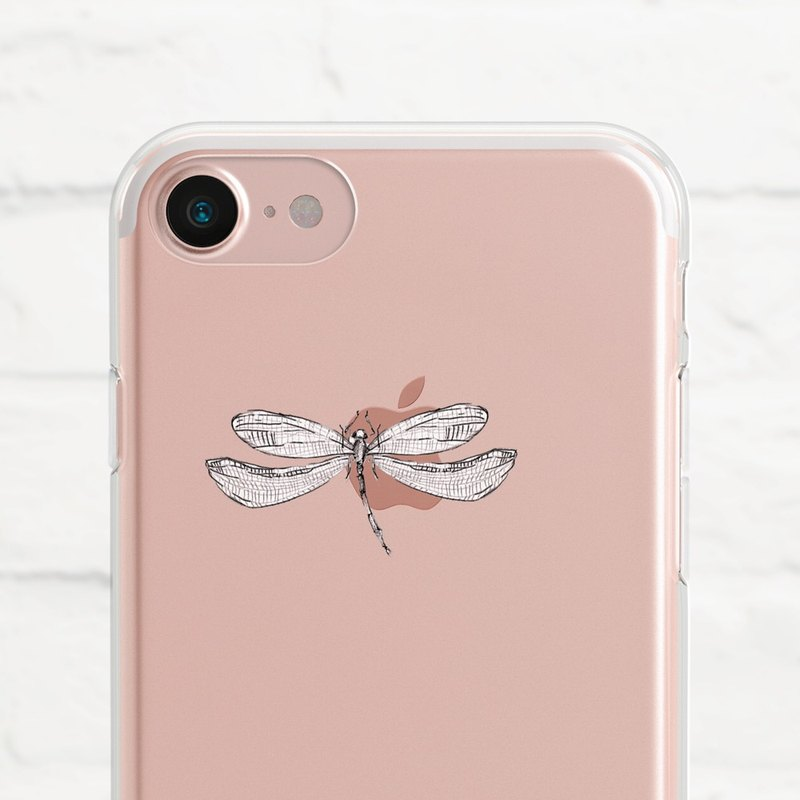 Dragonfly - Dropped Transparent Soft Shell - iPhone 7, iPhone 7 plus, iPhone 6, iPhone SE