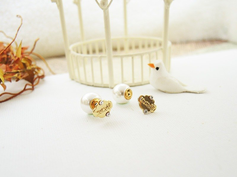 §HUKUROU§ Xiaoyun after pearl earrings (gold)