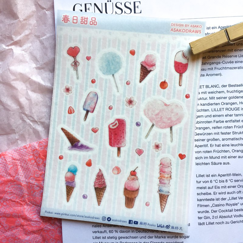'Spring in Pink Dessert House' Sticker No.5