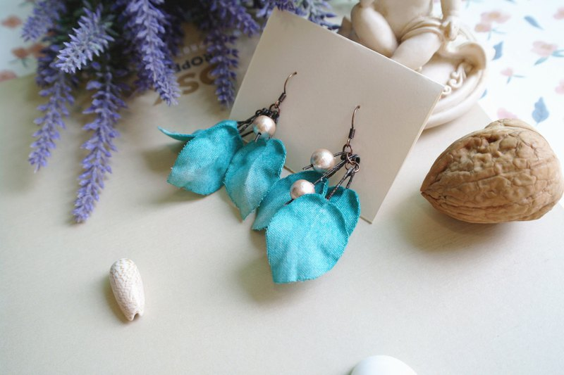 Forest Department Green Bougainvillea Flower Petal Flower Earrings Earrings Ear Hook Ear Clip Gift