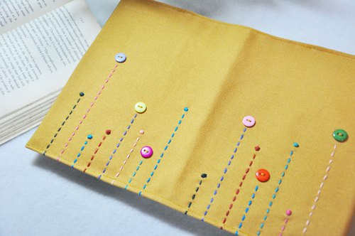 Hand book notebook [Rain in the song turmeric canvas section (A5 = A5]