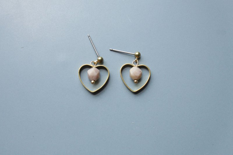 │ Heart │ Earrings - Rose Stone