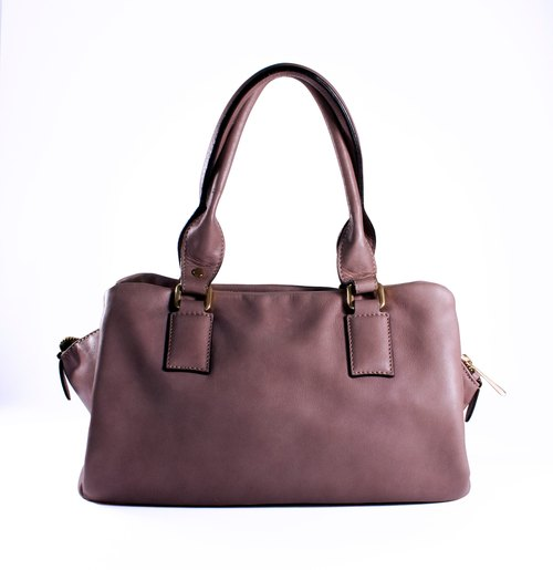 ITA BOTTEGA [Made in Italy] Purple Purple Leather Shoulder Bag