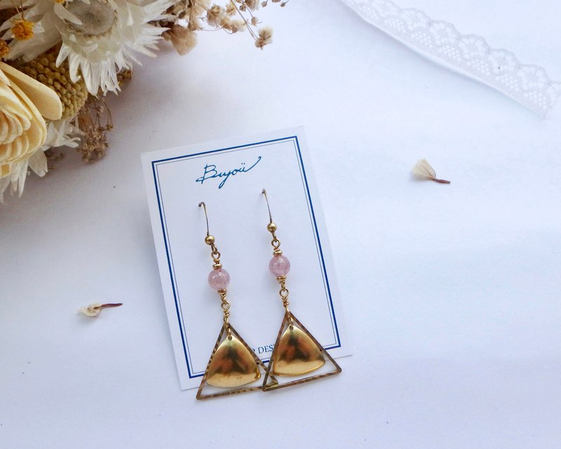 Flavonoid Earrings I Strawberry Crystal