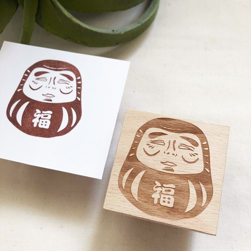 Anti-white eye Dharma 5*5cm wooden seal one
