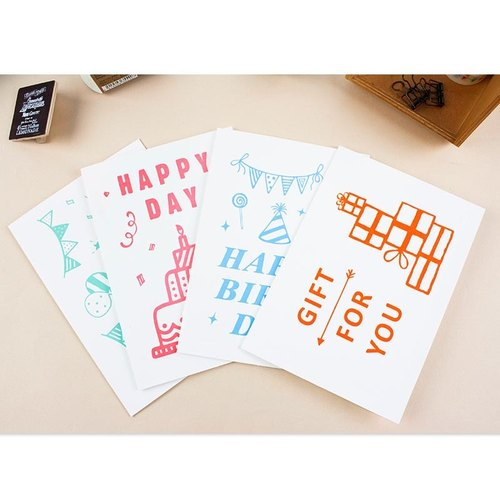Million card / birthday card / blessing thanks greeting card / creative cute card / graffiti card