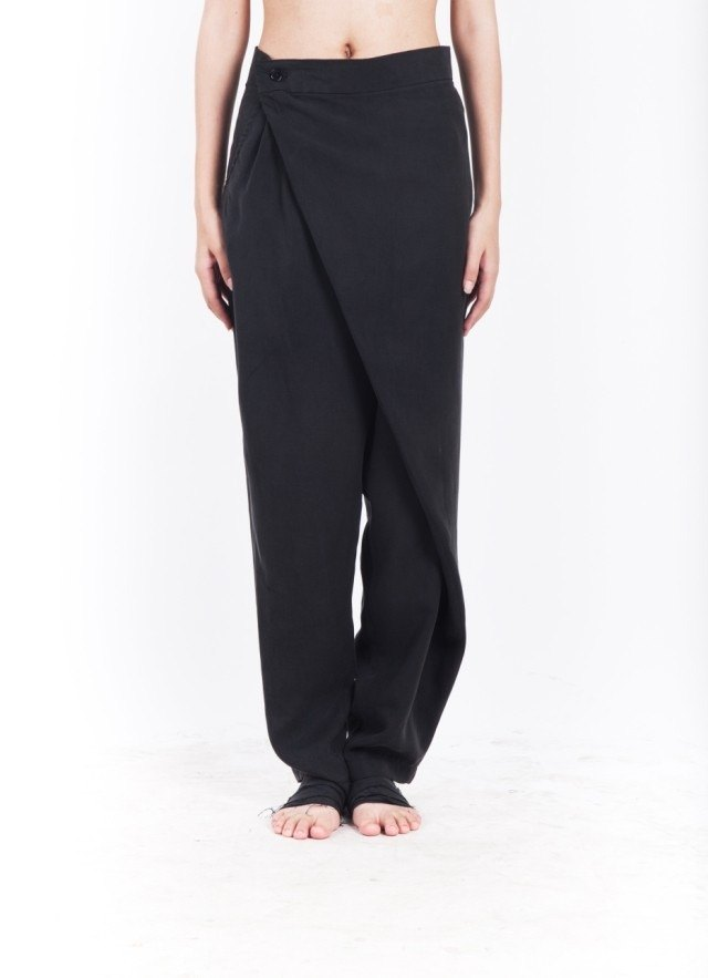 JANWONG women's series of folding asymmetric Lun pants three-dimensional cut women's trousers (custom models)