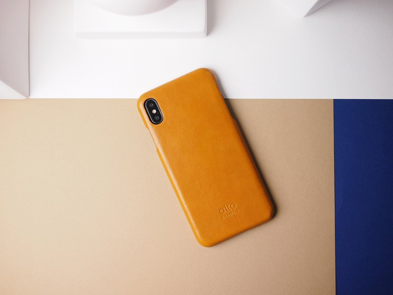 alto iPhone X / Xs Original Leather Case – Caramel