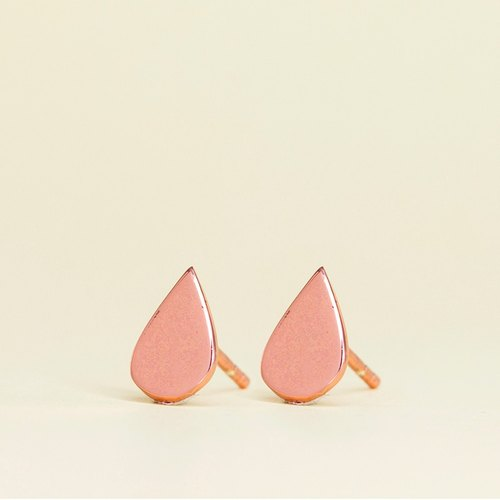 Drop Earring in Brass with Rose Gold plating