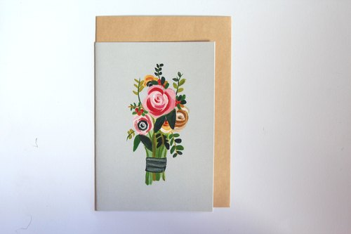 Flower Boquet Card