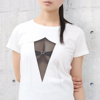 Mousou See-through T-shirt/ MESH BLACK/ WM size