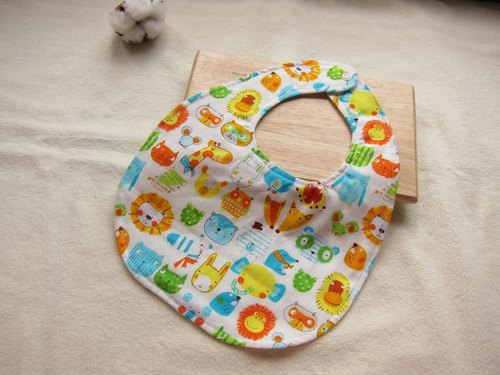 123 Zoo - cotton baby bibs, bibs (white)