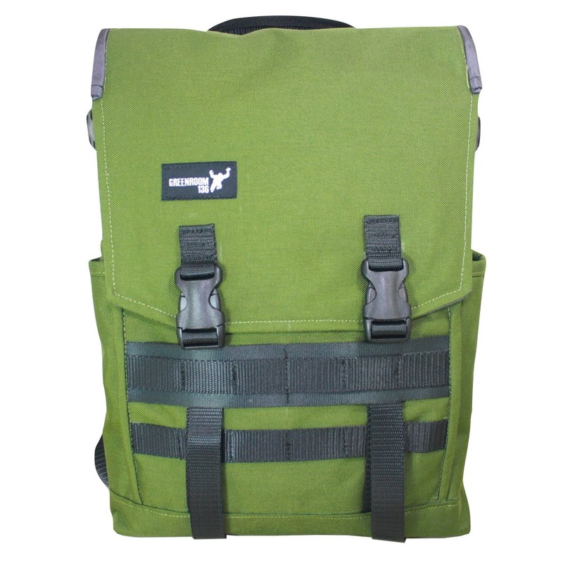 Greenroom136 - Genesis - Laptop backpack - MEDIUM - Green