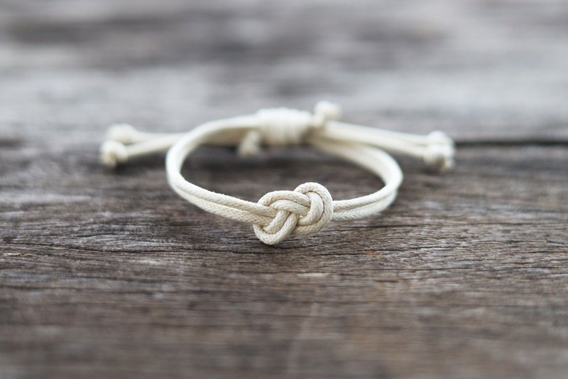 White infinity adjustable bracelet
