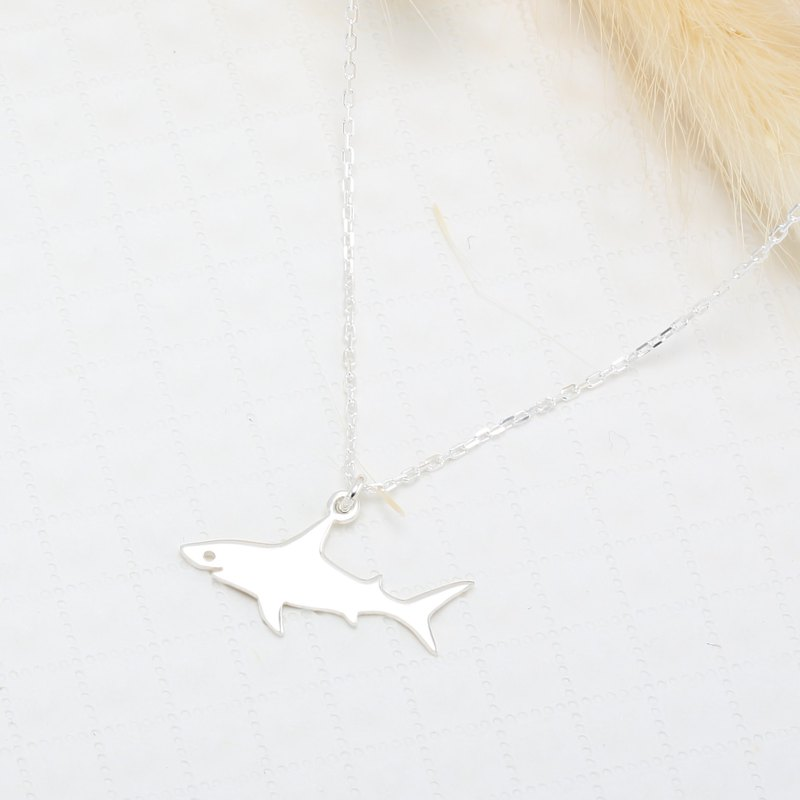 Cute Shark s925 sterling silver necklace Valentine's Day Birthday gift