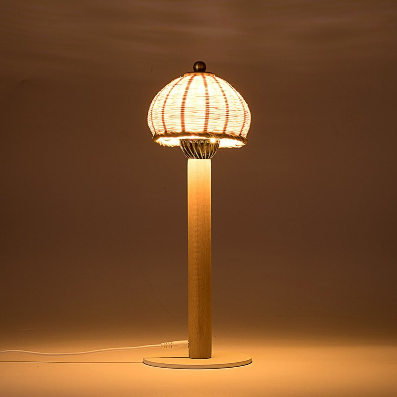 B. Chinese creative LED lamp with bamboo woven garden lamp