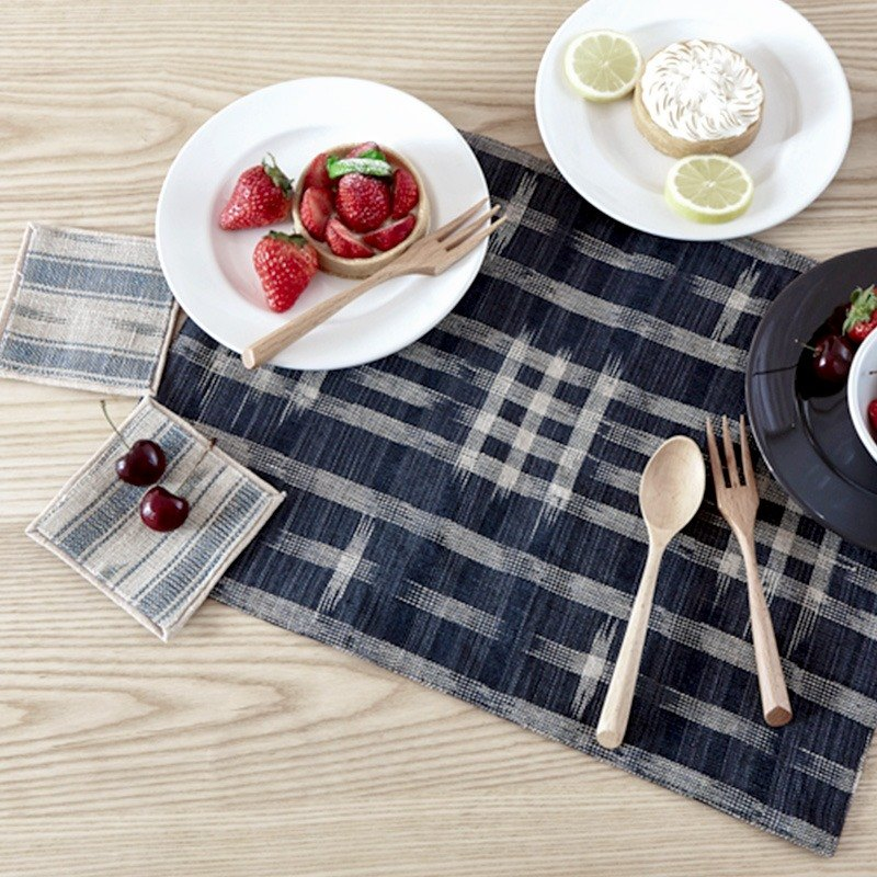 Japanese Nordic handmade Chinese vintage ethnic handmade fresh simple linen Burlap placemats coaster tea seats tea cloth