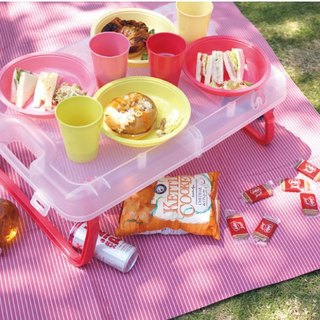 BISQUE / Picnic Folded Table (with tableware)
