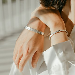 zo.craft customized couple bracelet / 925 Silver