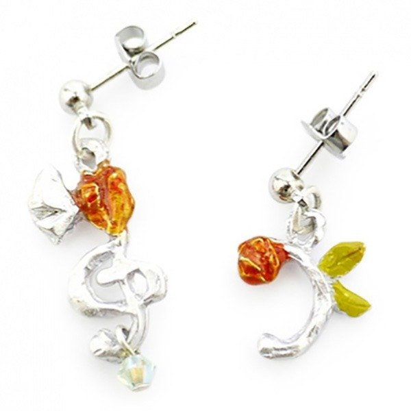 Notes (Silver) Notes (Silver) / Earrings PA078