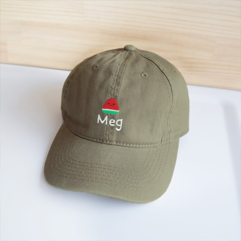 [Q-cute] hat series - watermelon retro wind baseball cap - add words