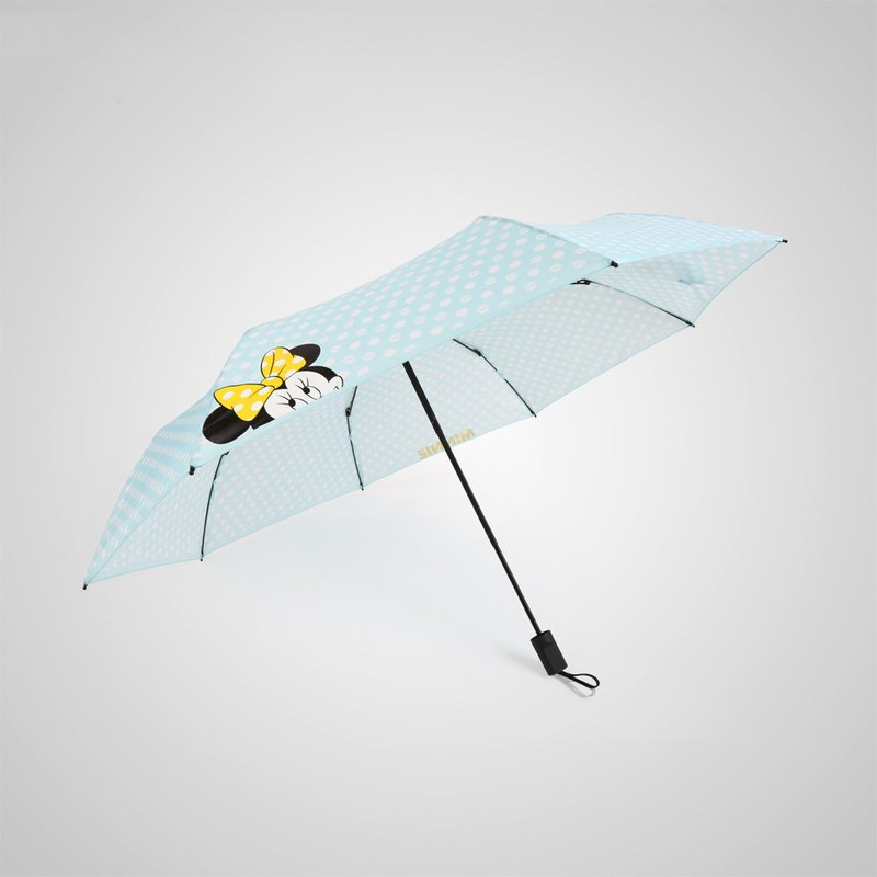[German kobold] Disney official authorization - rain umbrella - wave point Minnie - blue