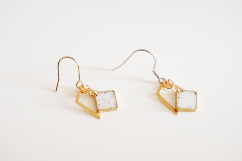 18 Winter -Geometric Granite Earring