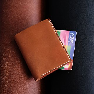 3-Card Photo Mini Wallet。Leather Stitching Pack。BSP081