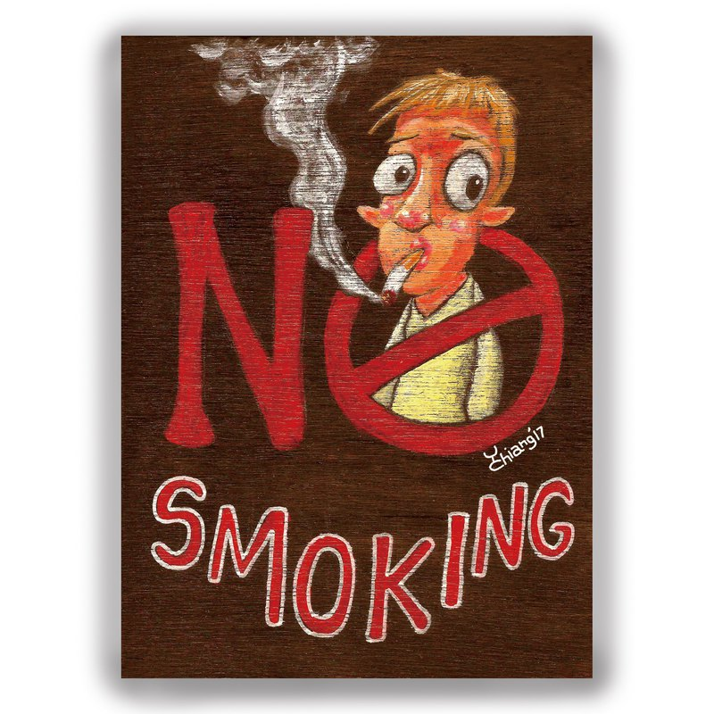 Hand-painted illustration universal card / postcard / card / illustration card - no smoking no smoking card No Smoking