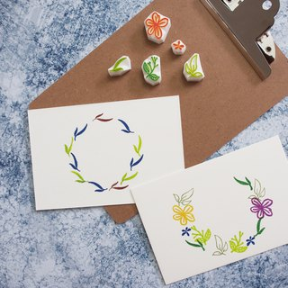 Mstandforc x Handmade J | Watercolor Wreath Seal Set [1] (5 stamps)