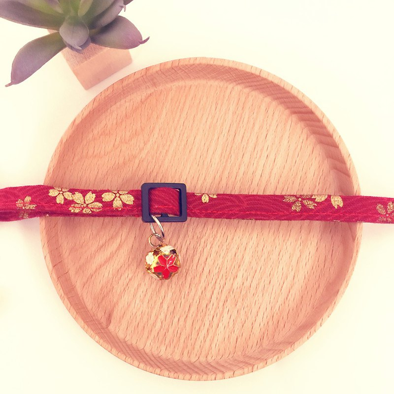 Japanese style cherry blossom cat mini dog small dog decorative collar